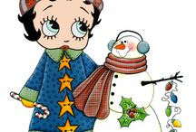 Xmas Betty Boop / created by Ria Jongeneel