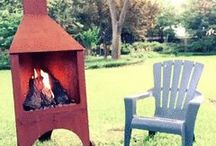 The Perfect Fire / The Chimney Box outdoor fireplace