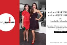 Vogue Empower - With www.rocknshop.com / Own a piece from the personal collection of the super stylish Priya and Charu Sachdev and contribute toward the cause of women's empowerment!
