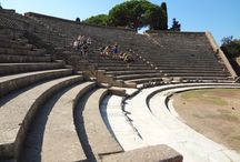 Ostia Tour / Ostia Antica was the main port of Ancient Rome. It is located at the mouth of the river Tiber. The excavations are amazing...you can see original mosaics, paintings, restaurants, condominiums, baths and much more...
