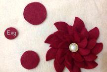 Feltro ideias / #Feltro #artesanato #flores