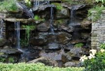 Water Elements in Garden Design / All about waterfalls and water features that you can incorporate in garden landscape desgin. By Mary Palmer Dargan, landscape architect based in Atlanta, GA. See more of her designs at http://www.dargan.com