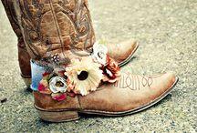 Boho boots / Boot belts