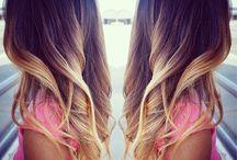 ombre air caramel blond