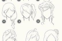 Рисование волос