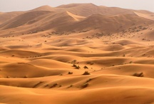 Great Sahara Desert / The Sahara  is the world's largest hot desert and third largest desert, after Antarctica and Arctic. At over 9,400,000 square kilometres (3,600,000 sq mi), it covers most of  Northern Africa,making it almost as large as China or the United States. The Sahara stretches from the Red Sea, including parts of the Mediterranean coasts,to the outskirts of the Atlantic Ocean. To the south, it is delimited by the Sahel, a belt of semi-arid tropical savanna that composes the northern region of central and