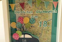 Basteln 18. Geburtstag