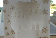 Sleigh Ride Edgelits / Stampin' Up! Sleigh Ride Edgelits. Fancy Fold tent card