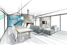 Croquis Architecture d'interieur