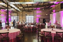 PINK! Pre Party / Check out this awesome set up from the Pink Pre-Party in The Peyton! Catering: Sodexo |  Staffing: Black Tie Affair | Uplighting: Solid Rock | Valet: Chattanooga Valet