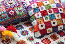 Crochet pillows/cushions