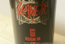 Slayer Reign In Blood Red Wine Tasting Session / Slayer's Reign In Blood red wine is the kind you can drink on it's own, but calls for a bloodlust straight away. So the best you can do is to company your wine with a juicy, rare cooked steak, these two would definitely do the job.   http://www.wineandroll.co.uk/tastingnotes_slayer_reigninblood.html