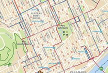 Travel destinations / Montreal bike map
