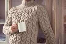 Узоры вязанных свитеров