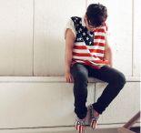 4 of July: Moda con la bandera de EE.UU para hombres.