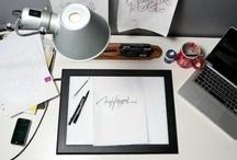 Typographer work table