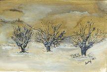 Pejzaże, Landschaften, Landscapes / Moje Malarstwo Pejzaże  Meine Malerei Landschaften My Painting Landscapes