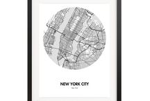 City Map Posters / Our City Map Posters make thoughtful and beautiful gifts. A perfect way to keep your memories from a city that you love.