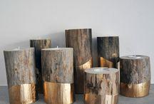 stojany na čajové sviečky z dreva