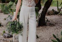 Vestidos novia/pantalón