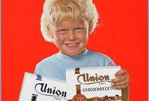 Union chocoladeletters / kleine collectie uit mijn verzameling en gepinde Union 'letters'