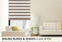 Malibu Blinds & Shades / The company's design team excels in featuring the best blinds, shades and shutters available at the lowest prices in town.