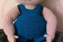 Boy blue angel doll