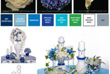 Flower Trend: Lapis Luxury 2015 / The refined and formal event lives in Lapis Luxury.  A palette inspired by the waters of the world, the Lapis event is formal sophistication powered by blues and whites.  White calla lilies roses and peonies combined with the blue flowers of either hydrangea or delphinium. Lapis Luxury is refined, formal and crisp.