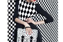monochrome / the classy black and white fashion.