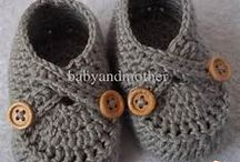 knitting booties/slippers