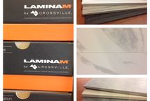 Laminam / Crossville's Laminam is the largest and thinnest slab! It's available for walls and in 5.6mm for floors.