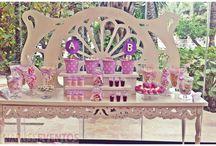 COMUNION / Blanca y Alba querían que su comunión fuera todo en los colores malva, rosa y blanco... Así nos quedo!!!