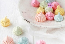 Macaron, meringue, lollipop and all sweet loves