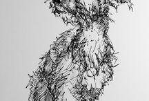 drawings, illustrations