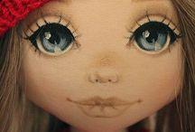 кукла лицо