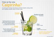 CAIPIRINHA ✧ Brazilský koktejl / Koktejl ze světlého jihoamerického rumu a třtinového cukru s limetkou. Recept na 1 nápoj: 5 cl cachaca (nebo jiný jihoamerický rum), 1 ks větší limetka, 2 lžičkyhnědého třtinového cukru, drcený led, brčko. Limetu opereme, nakrájíme na kousky a rozmačkáme v hmoždíři. Sklenice na long-drink naplňíme kostkami ledu, přidáme cukr, destilát, led a limetové lístky a vše promícháme. Do letních veder je caipirinha naprosto ideálním drinkem. Osvěží Vás a dostane do dobré nálady.
