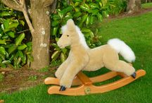 La-Nate New Zealand Rocking Animals / We handcraft genuine sheepskin and timber childrens rocking animals.Made from luxurious soft sheepskin and hard wood these rockers are of the finest quality and lend themselves to becoming an heirloom toy of the future. They come complete with a hand forged brass plaque of authenticity. We do rocking horses, lambs and Old English sheepdogs. They come in different colours and can be made to order.