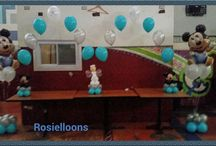 Baby mickey baby shower balloons / by Rosielloons