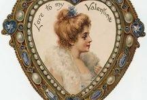 Vintage Valentine Graphics or Crafts