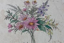 Painted flowers style