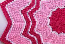 Crochet: Star Rugs And Blankets/ virkatut tähti matot ja peitot