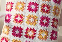 Crochet cushions