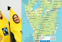 Banana Walk for Fairtrade / Lina & Li from Fairtrade walk across Sweden in #banana suits to raise awareness for human rights and gender equality! Follow and support them on their #bananvandringen!  / by Fairtrade America