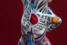 body painting , transformation. ..