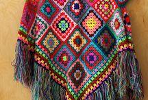 crochet scarves, wraps and ponchos etc