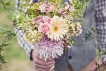 Rebecca and Gavin / March 2014 - Informal, vintage wild flowers.
