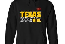 Texas Lifestyle Apparel Tees, T-Shirts, Hoodies, State Pride Wear / T-Shirts that will show off your pride in the Great State of Texas! Clothes for folks who live in a Texas state of mind. These tees are tough, just like our great state. Texas is the second largest state in the United States by both area and population. Geographically located in the south central part of the country, Texas shares borders with the U.S. states of Louisiana to the east, Arkansas to the northeast, Oklahoma to the north, New Mexico to the west