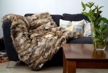 Fox Real Fur Blanket Throw