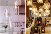 DIY Leuchten aus alten Flaschen