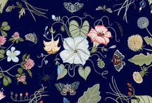 Flora Knight / Dark and mysterious, Flora Knight blooms seductively this season. Created by artist Kris Knight, the bold botanical is a modern interpretation of a Gucci's classic Flora print. Here, a look at the new design and the artist behind it. / by gucci